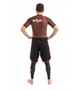 bjj short sleeve rash guard brown